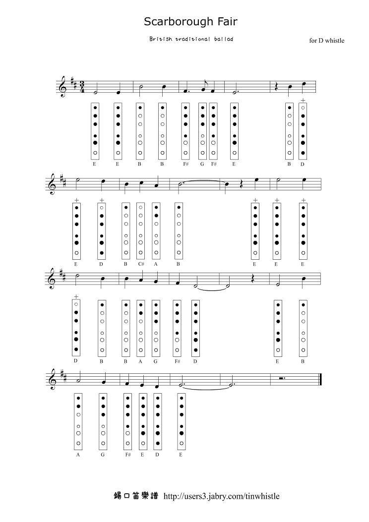 Lyric scarborough fair lyrics and sheet music : Scarborough+Fair.JPG] | Tinapilli | Pinterest | Tin whistle ...