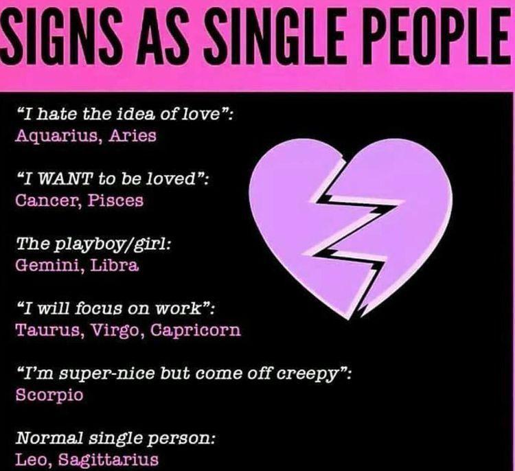 Signs as single | Horoscopes | Zodiac, Zodiac funny, Zodiac sign facts