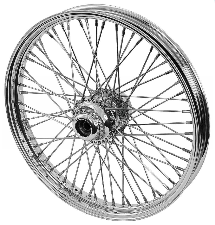 21 X 2 15 60 Spoke Chrome Front Wheel Assemblies