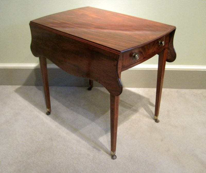 Georgian Mahogany Pembroke Table A Fine George III Period Mahogany And  Tulipwood Cross Banded