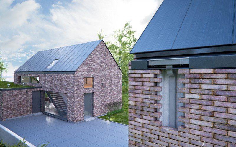 Rectangular roof gutter / steel HIDDEN GALECO Zinc