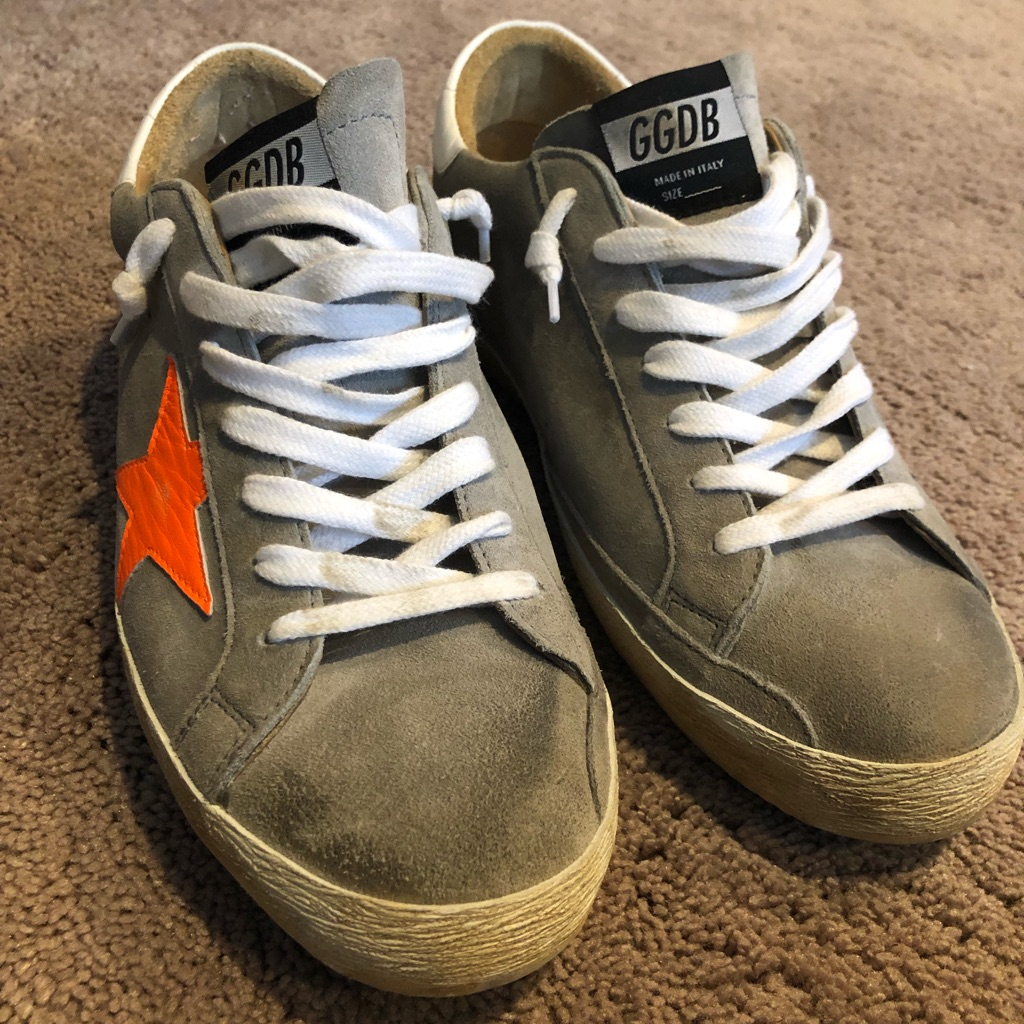 Golden Goose Shoes Like New Mens Golden Goose Gray Suede With
