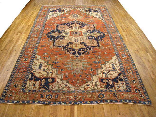 "Persian: Geometric 15' 0"" x 9' 4"" Serapi at Persian Gallery New York - Antique Decorative Carpets & Period Tapestries"