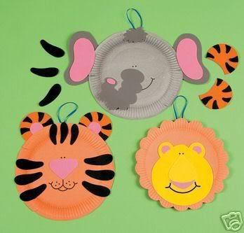 zoo animal crafts | Tiger Zoo Animal Paper Plate Craft Kit Image