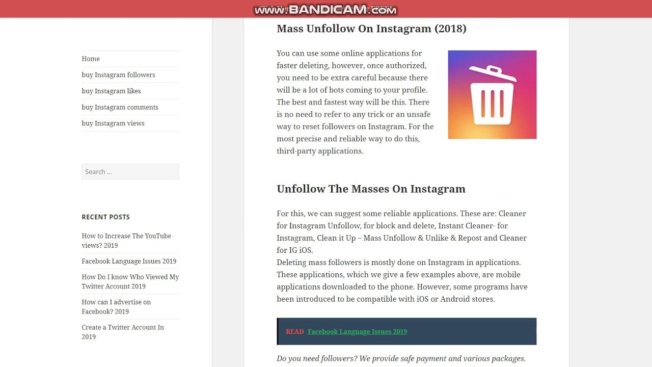 how to mass unfollow on instagram pc