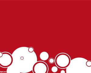 red circles powerpoint template is a red background for powerpoint