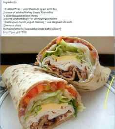 Turkey Bacon FLat Wrap