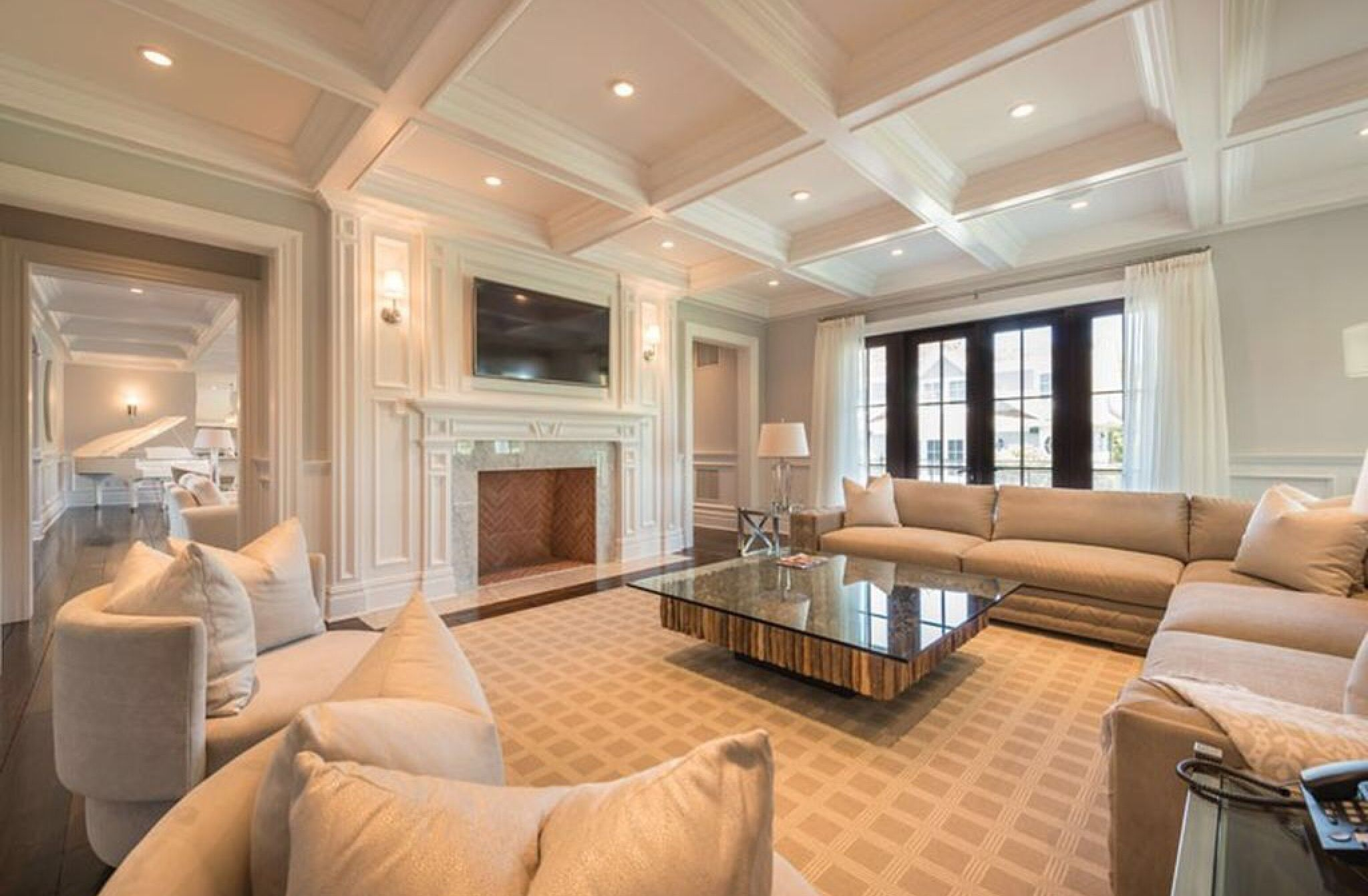 Pin By Minnie On Coffered Ceilings Millwork Plaster - Pinterest