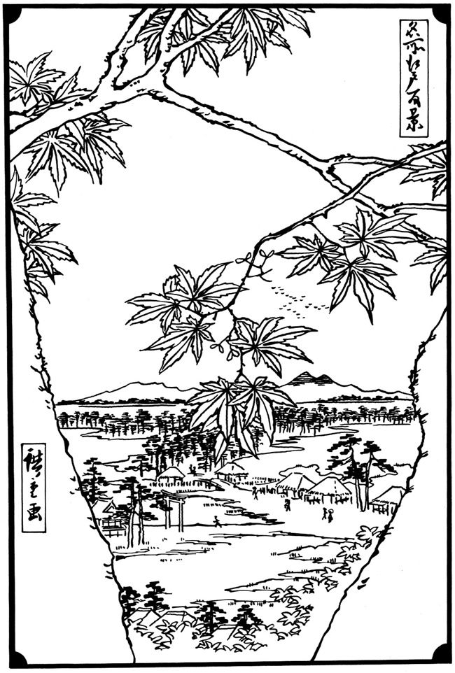 japanese prints dover publications coloring pages first. Black Bedroom Furniture Sets. Home Design Ideas