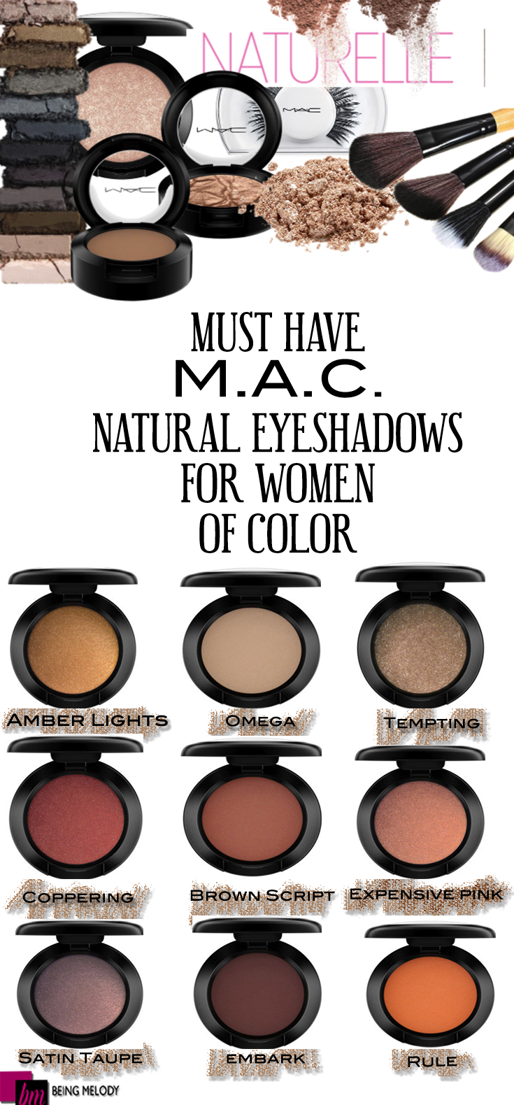 Nine Must Have Mac Cosmetics Neutral Eyeshadows For Women Of Color