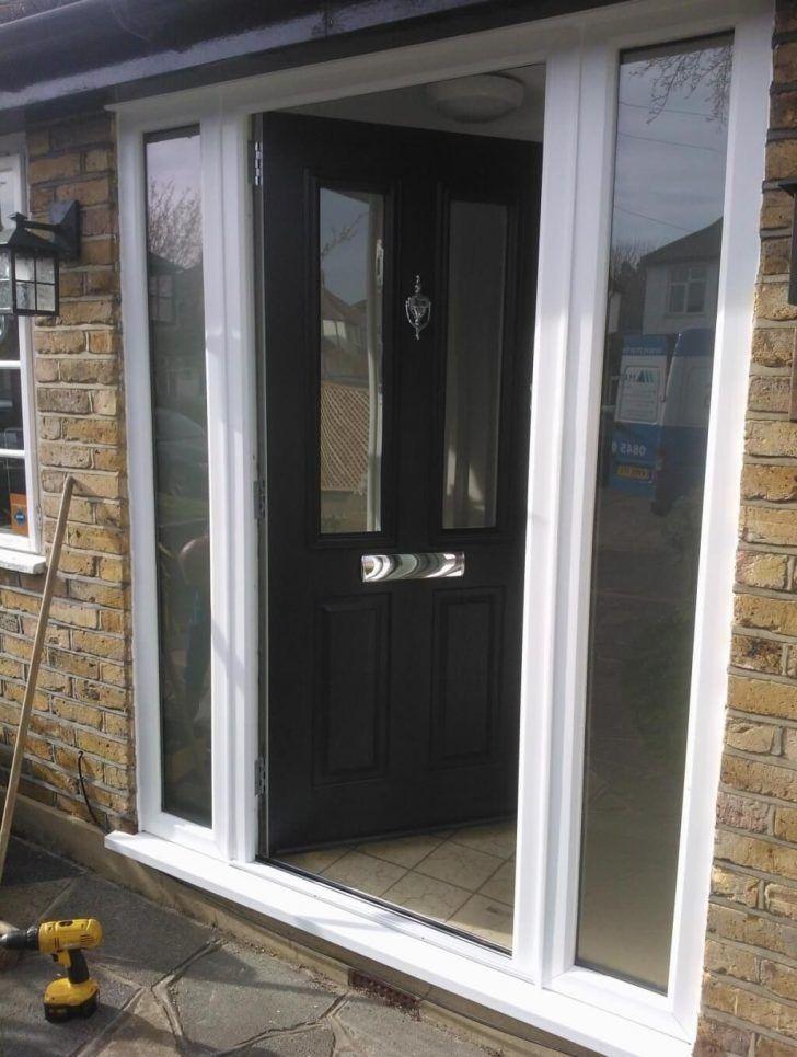 Free Coloring Double Composite Front Door 139 Double Glazed Upvc ...
