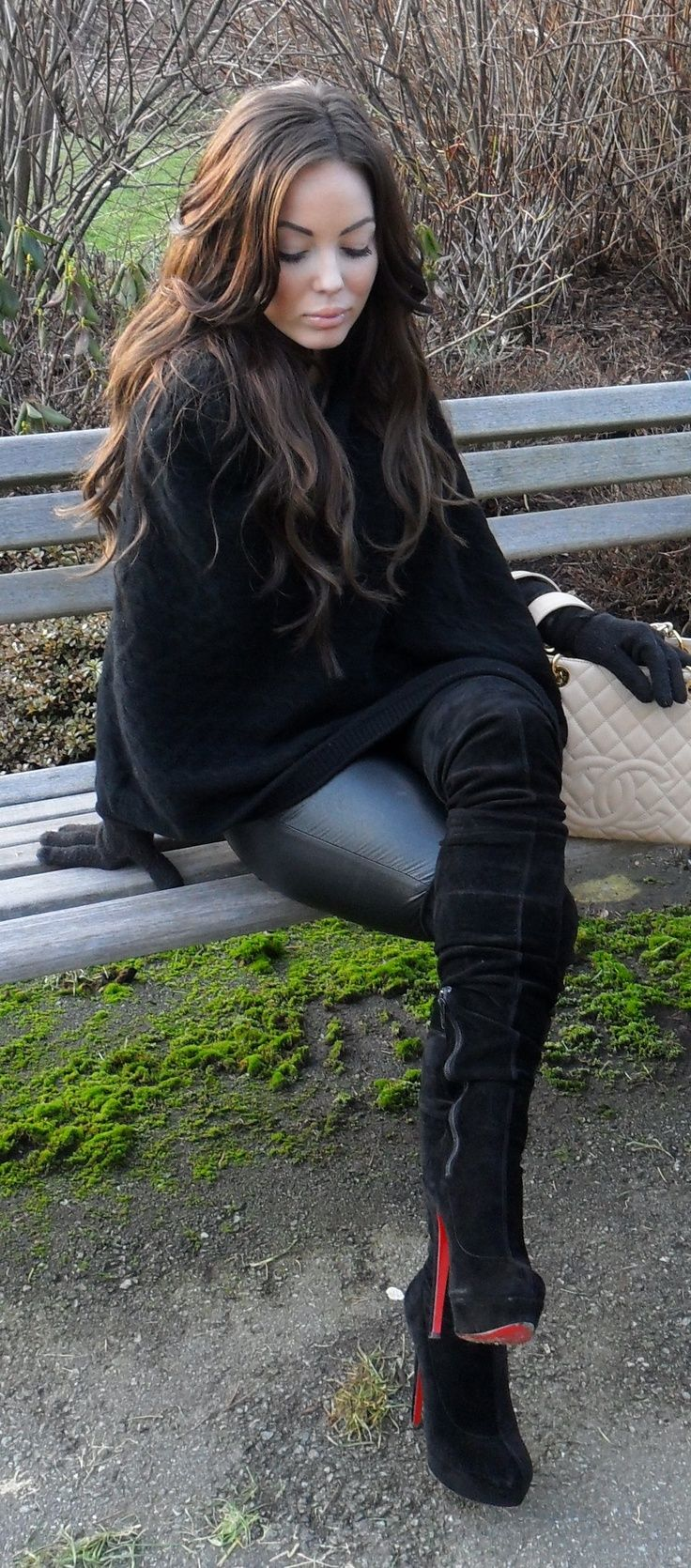 Leather Pants And Thigh High Boots | style | Pinterest | High ...