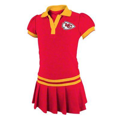 separation shoes 3744f 542c1 Kansas City Chiefs Red Girls Polo Dress | Football | Kansas ...