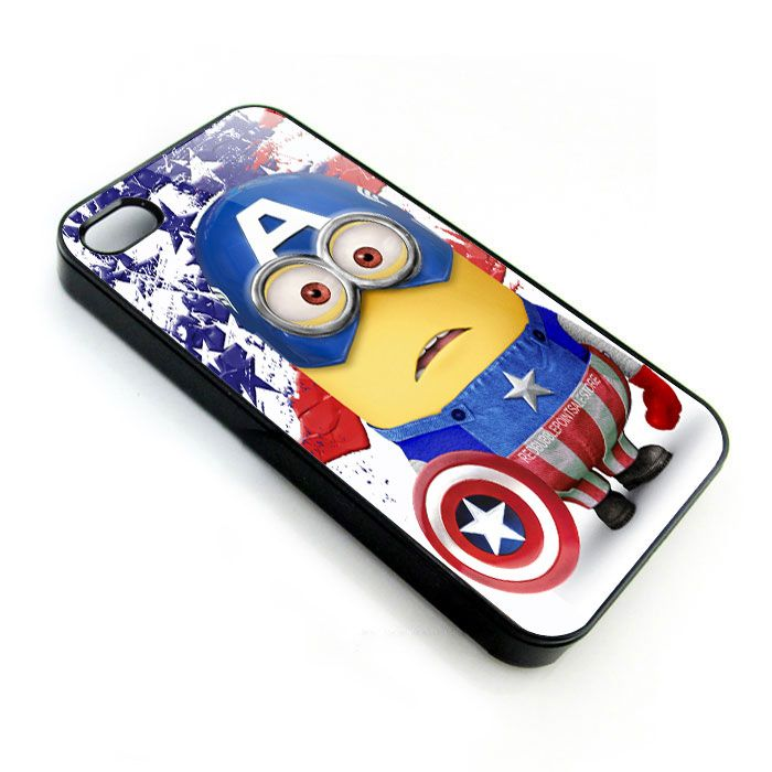 despicable me with captain america costume for apple Minions ...