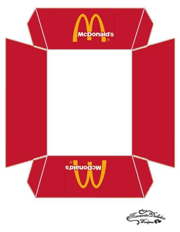 bandeja de carton imprimibles fiesta mcdonalds manzanitadiabolica