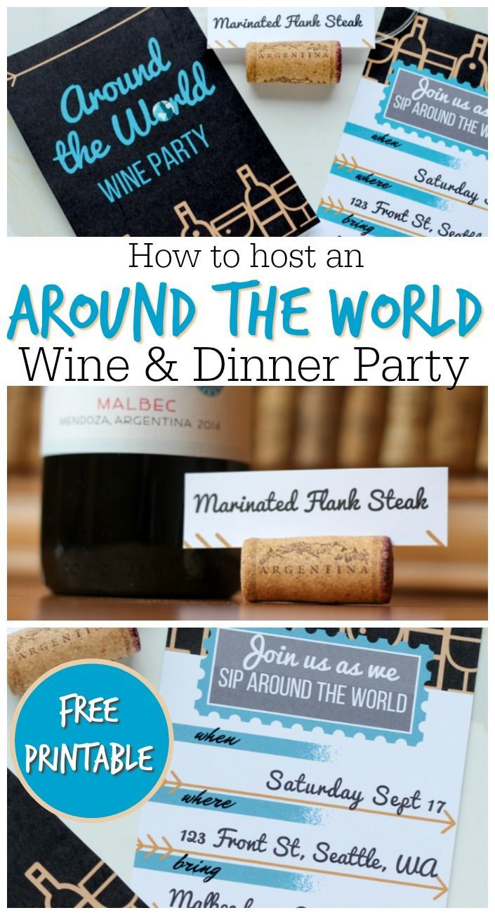 around the world dinner party ideas