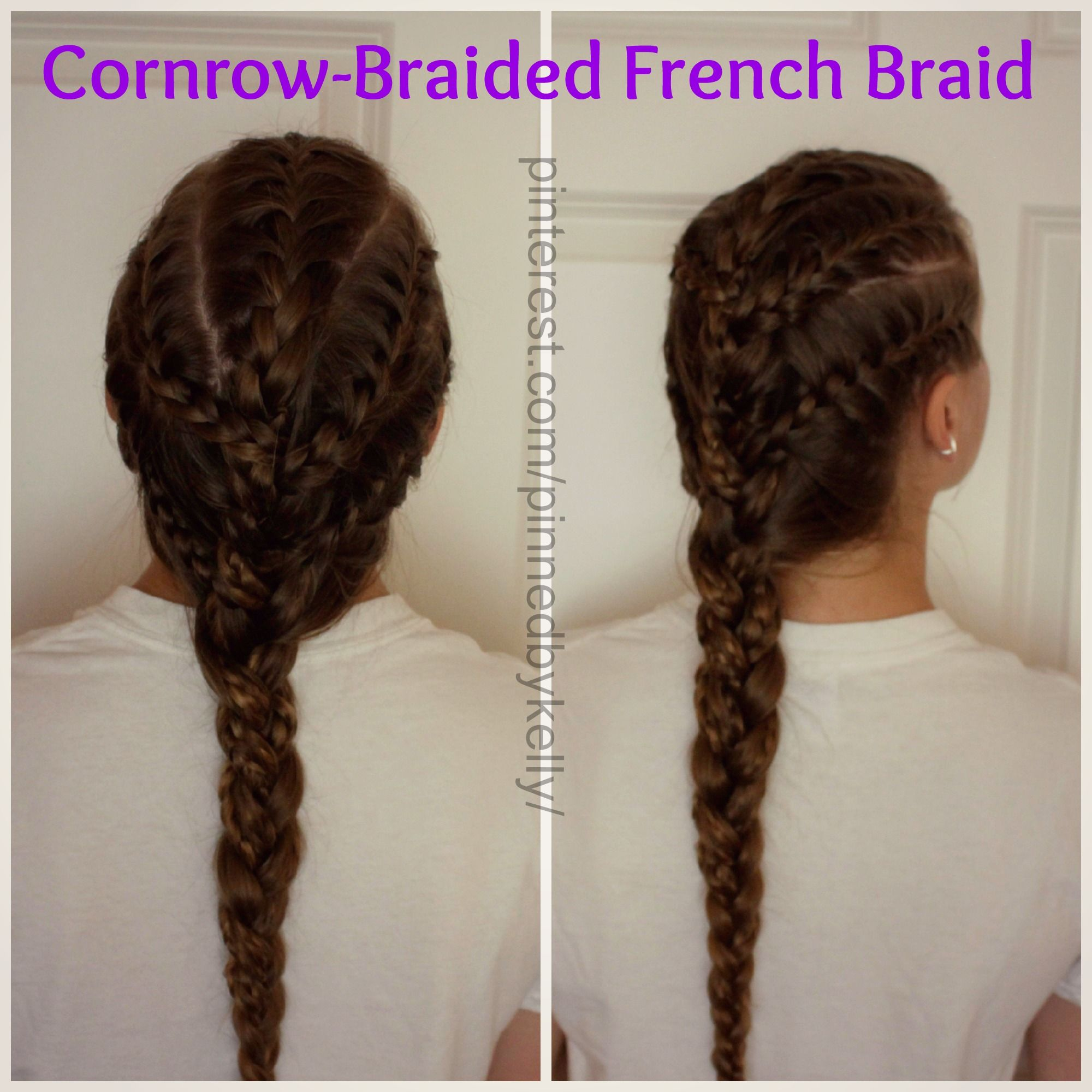 Cornrowbraided French Braid! How To Spice Up A Regular Braid  Sportsapproved