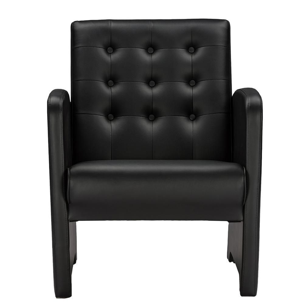 Best Baxton Studio Jazz Contemporary Black Faux Leather 400 x 300
