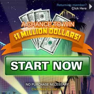 VegasWorld com - Vegas World One Million Dollar Sweepstakes