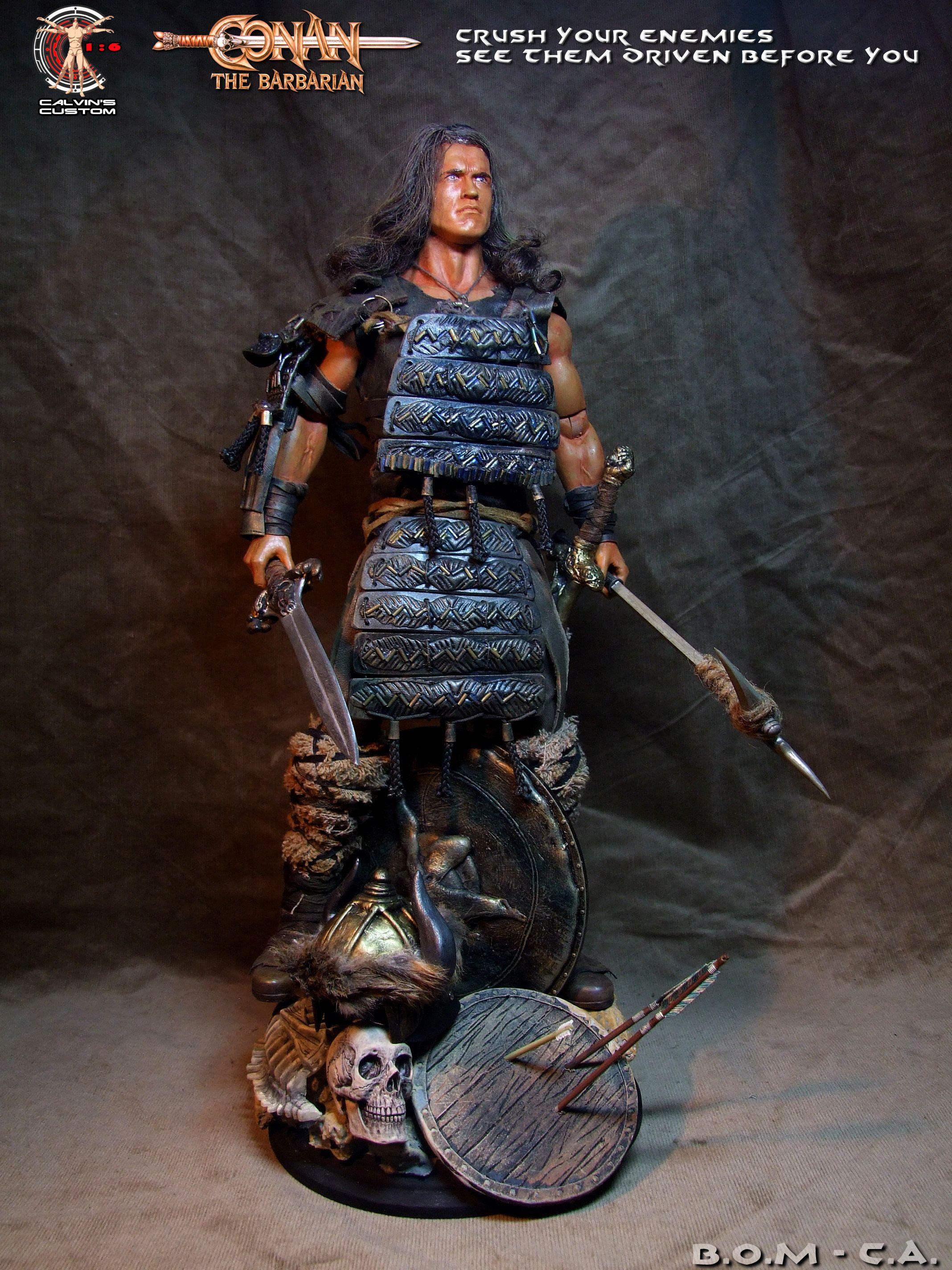 Calvin S Custom One Sixth Scale Arnold Schwarzenegger As Conan The Barbarian And Conan The Des