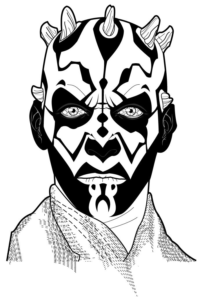 darth maul coloring pages - 697×1024