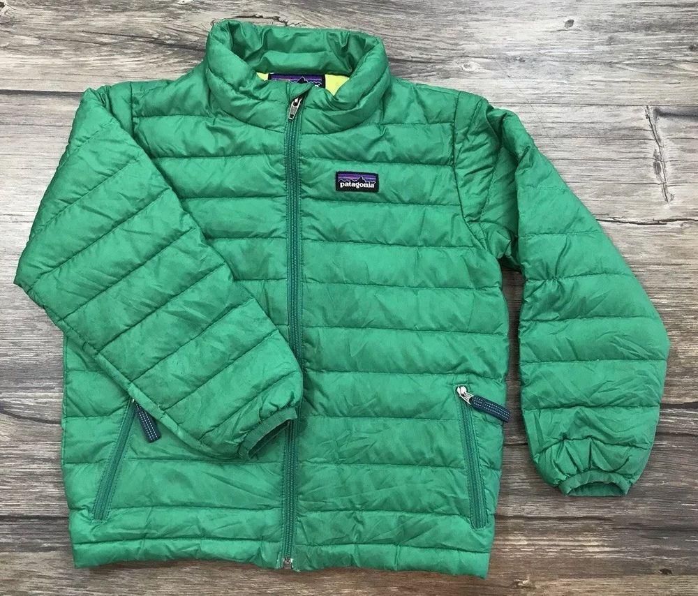 Patagonia Goose Down Sweater Puffer Jacket Boys Toddler Sz