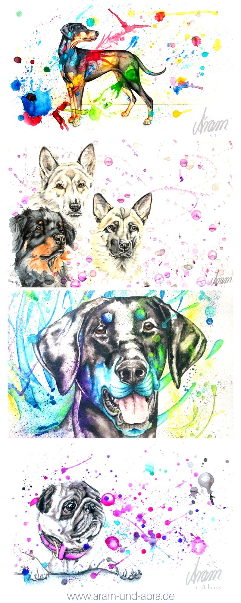 Illustrationen Und Portraits In 2020 Hund Malen Hund