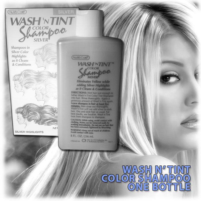 Nutra care wash n tint temp highlighting color shampoo white hair coloring pmusecretfo Images