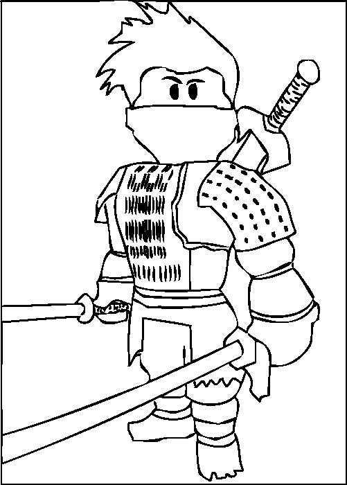 A Free Printable Roblox Ninja Coloring Page Malarbocker Malarbok Roblox