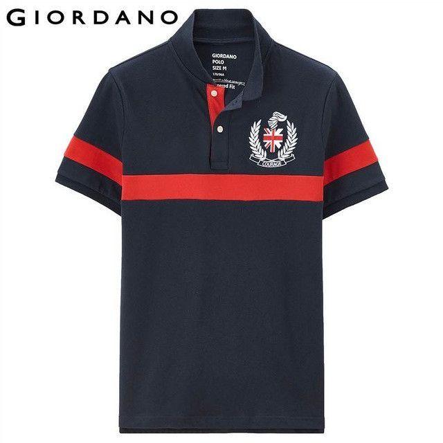 2231c8658dc7a Men Polo Short Sleeves Shirts Summer Tops Embroidery Badge Polo Shirt  Casual Polo