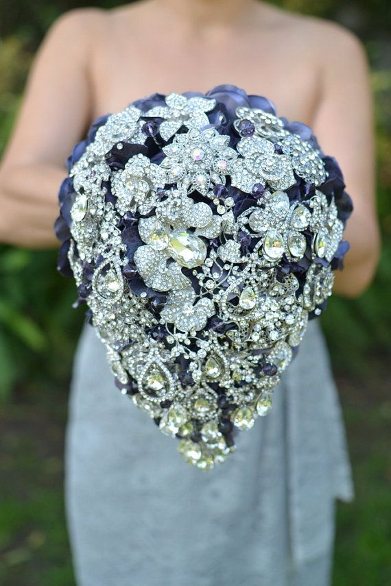 Cascading Teardrop Brooch Bouquet Deposit On A Made To Order Bridal