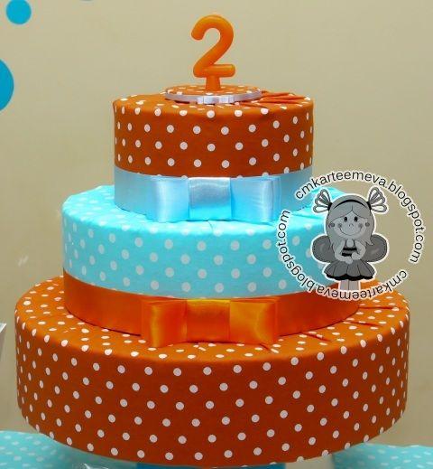 Resultado de imagem para bolo de isopor festa infantil