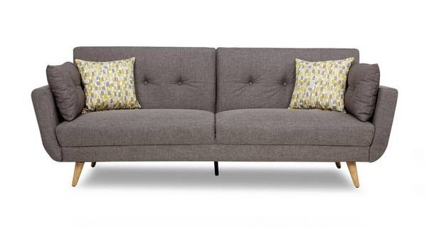 A Comfy Sofa Bed With The Charm And Style Of Mid Mod Retro We Love Angled Wooden Legs Stylish On Back