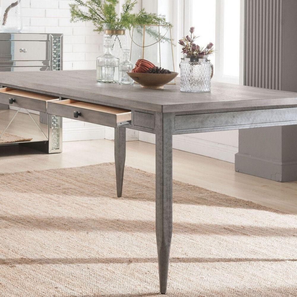 Dining Table 70270 Dimensions 60 L X 36 W X 30 H Materials Ash Wood Veneer Mdf Medium Density Fiberboard Metal Dining Table Metal Dining Table Table