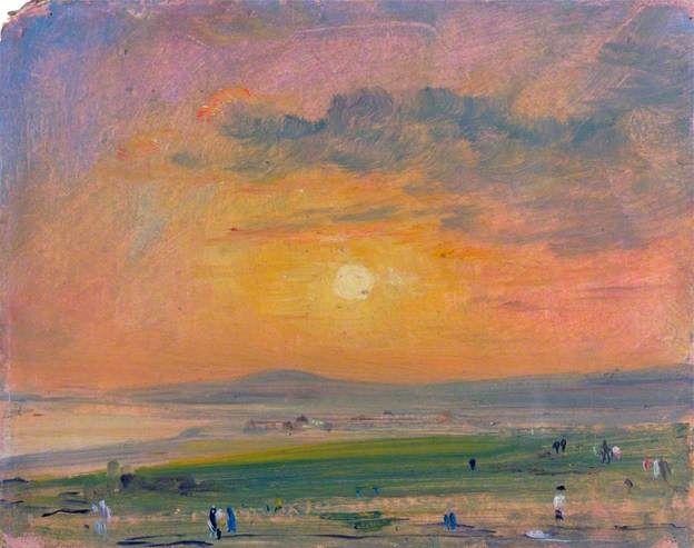 John Constable | Coast Scene at Brighton, Evening, 1828 | Victoria and Albert Museum