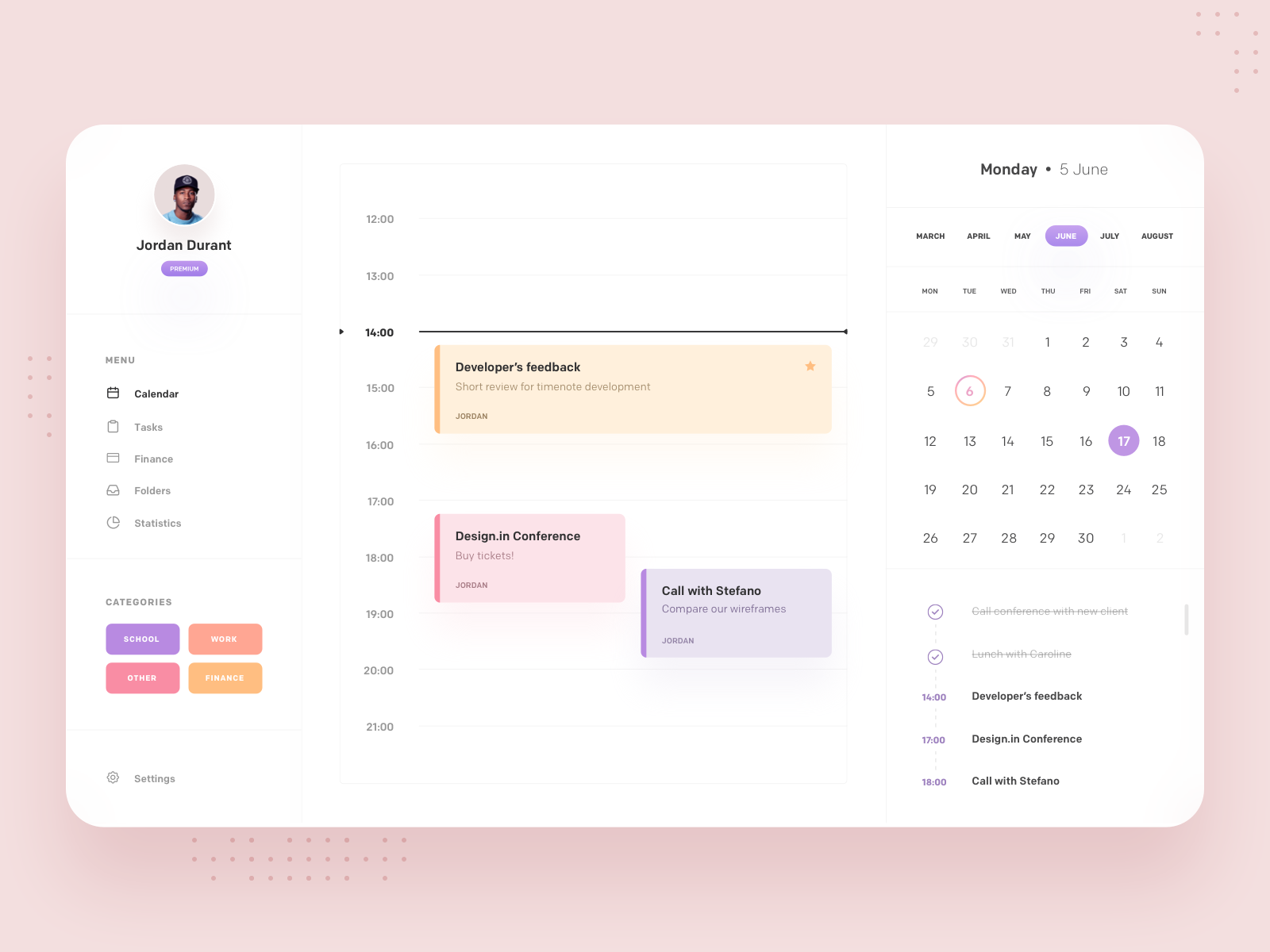 Mac Calendar Desktop App Design Exercise With Images App