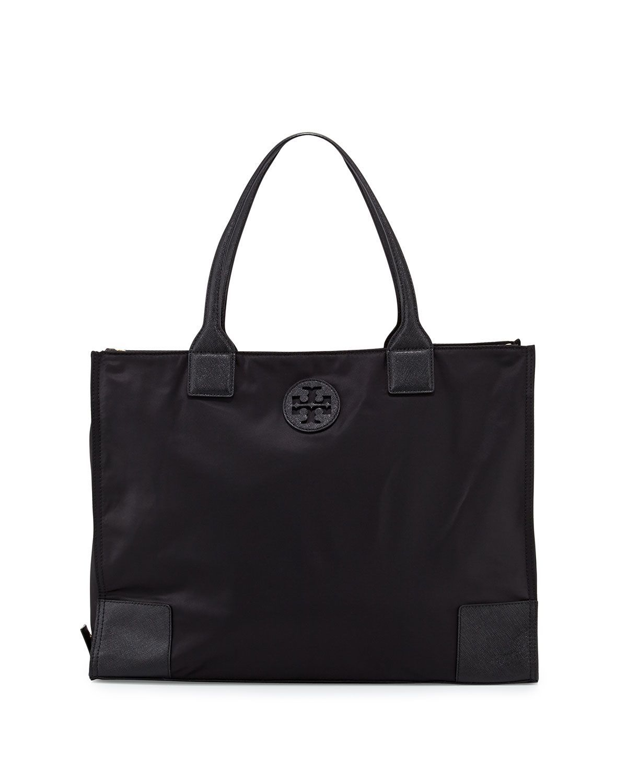 6ff65801ac7 Ella Packable Nylon Tote Bag, Black   Outfits   Nylon tote bags ...