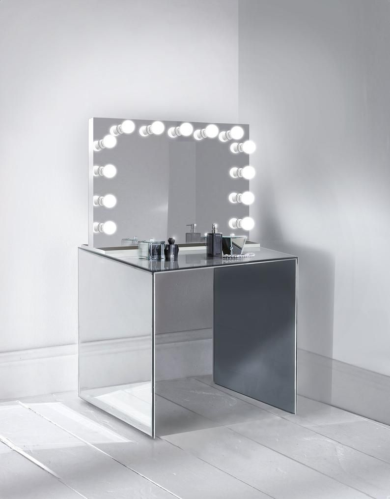 31 X 25 Makeup Lighted Vanity Mirror Led All Mirror Table Top Or