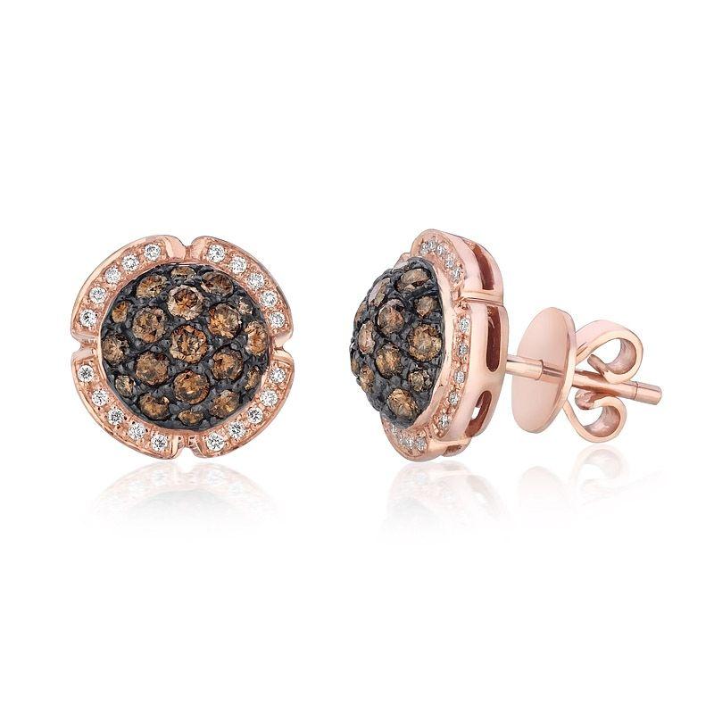 Levian Chocolate Diamonds 98ct Le Vian Diamond 14k Strawberry Gold Earrings