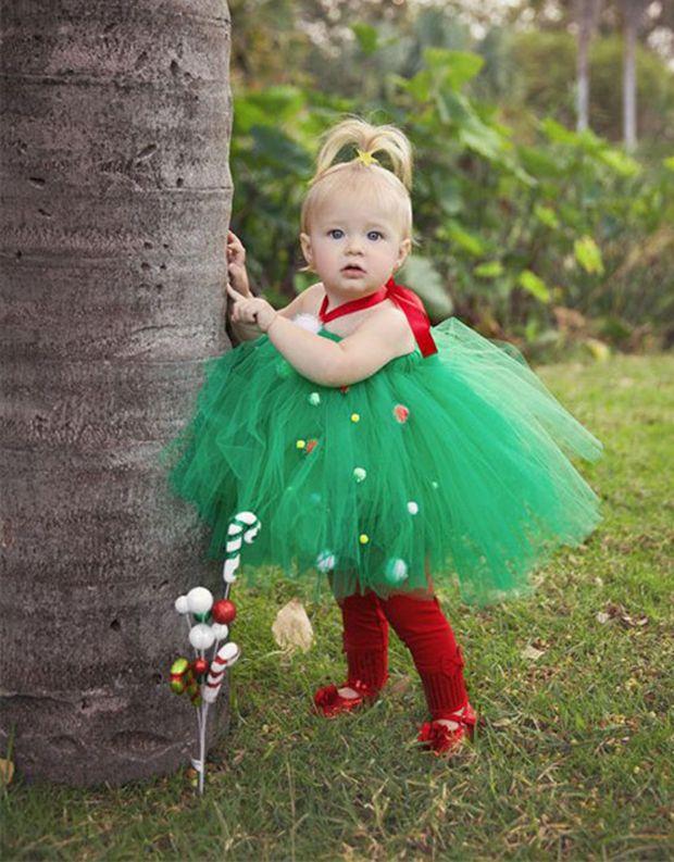 Tutu de rbol de navidad navidad pinterest navidad - Disfraces para ninos de navidad ...