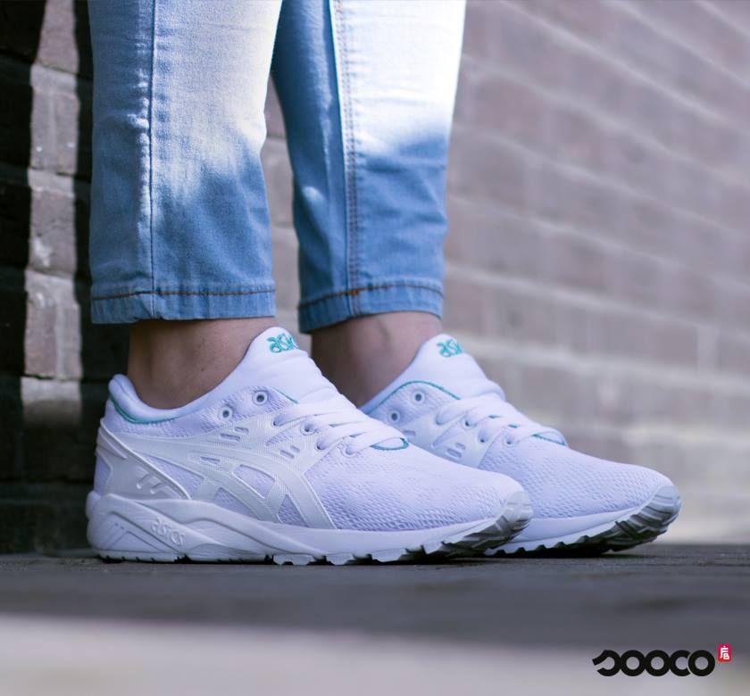 Zomerser dan wit met mintgroene accenten wordt het niet😍☀️ https://www.sooco.nl/asics-gel-kayano-trainer-evo-witte-lage-sneakers-29334.html