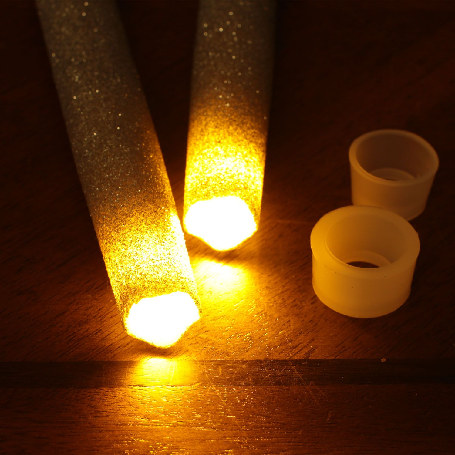 Dfl battery operated flameless real wax melted led taper candle