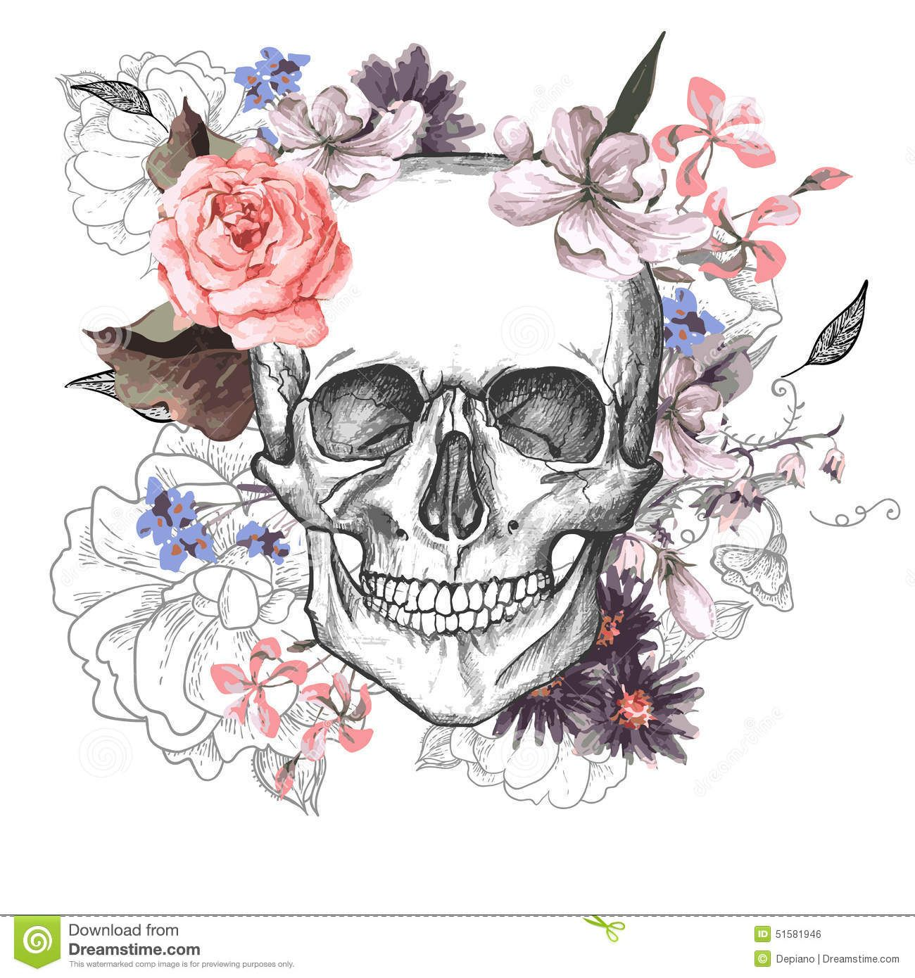 Day Of The Dead Skull Royalty Free Stock Image Image 16693446