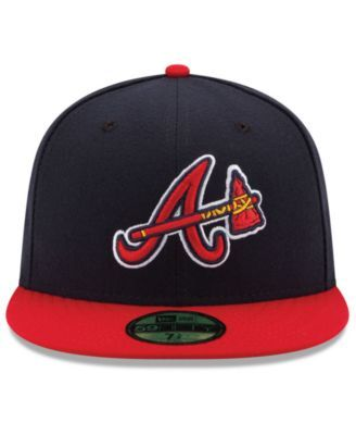 deeafb860ac New Era Kids  Atlanta Braves Authentic Collection 59FIFTY Cap - Navy Red 6  3 8