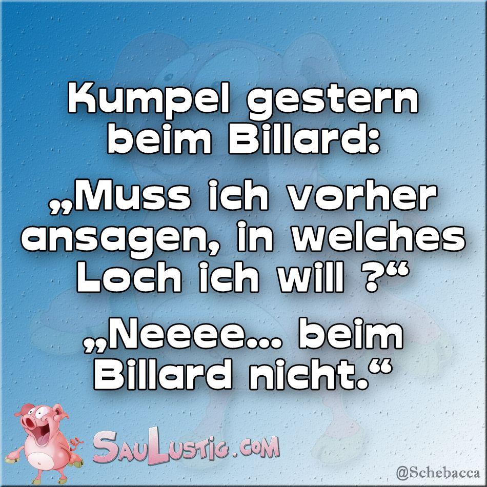 Billard Sprüche
