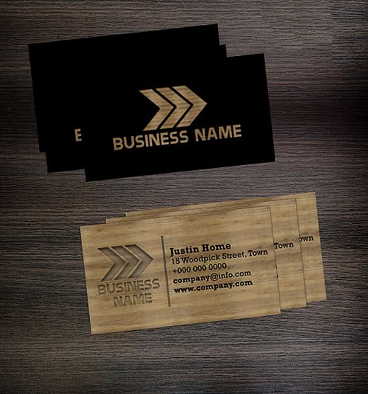 Company Wood Wooden Business Card Free Business Cards Business Card Template Psd