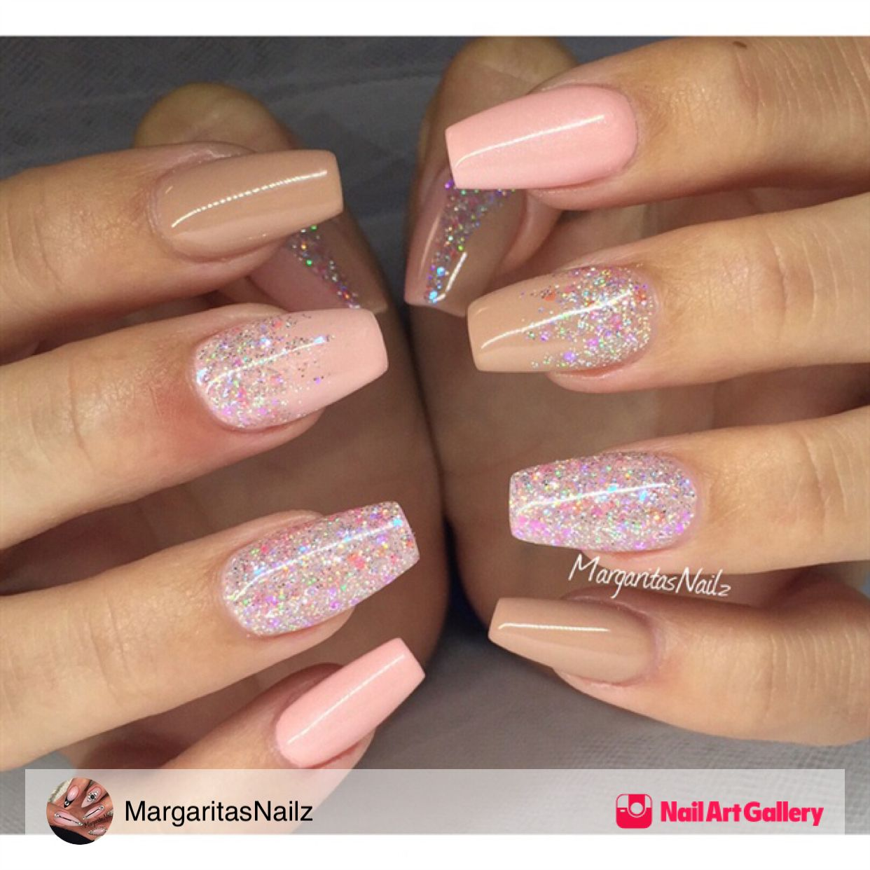 Nude And Glitter Nails By Margaritasnailz Via Nail Art Gallery