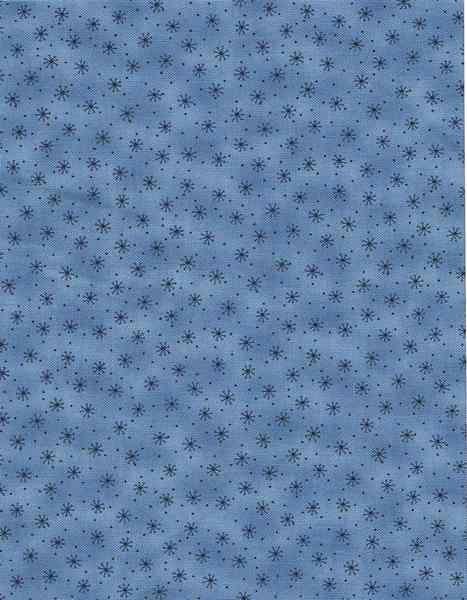 Quilters Basic Style,hellblauer Stoff mit Blümchen von Ela Stellmach auf DaWanda.com