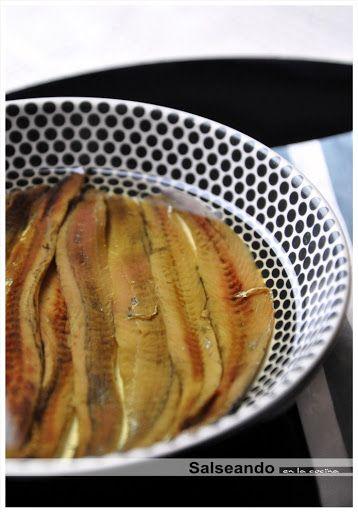 Salseando en la cocina: Anchoas de hondarribia. Preparación y aliño. Parte 2