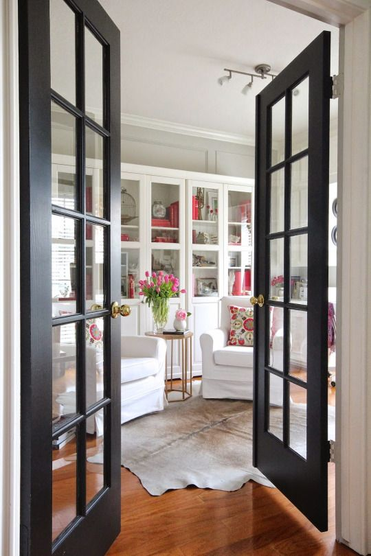 To be a Virginian... Love the French doors and flooring